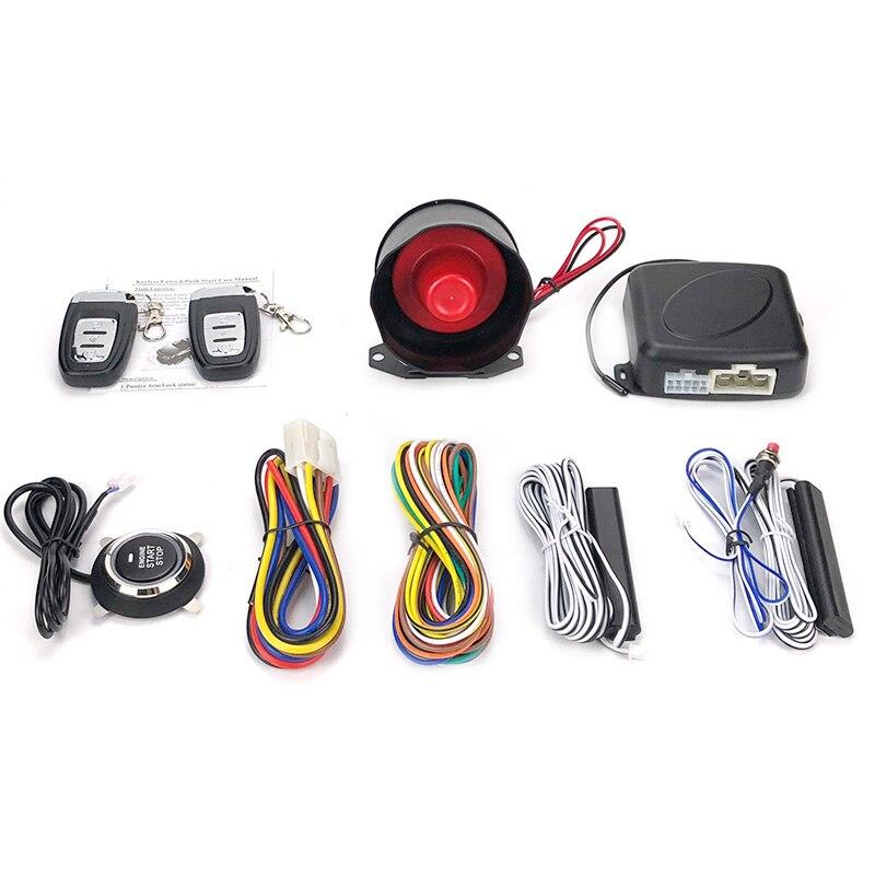 Système automatique d'entrée sans clé de voiture un bouton d'arrêt de démarrage avec le système d'alarme de voiture de démarreur à distance - 6