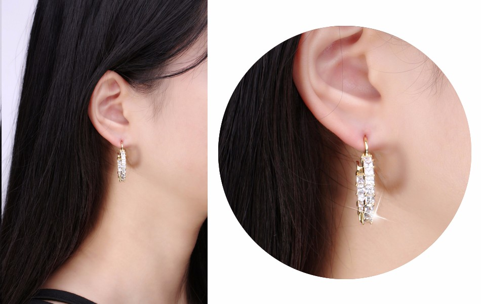 Effie Queen Big Round Hoop Female Earring Eternity Style with Shiny Zircon Bar Setting Luxury Earrings for Women Wholesale DE144 9