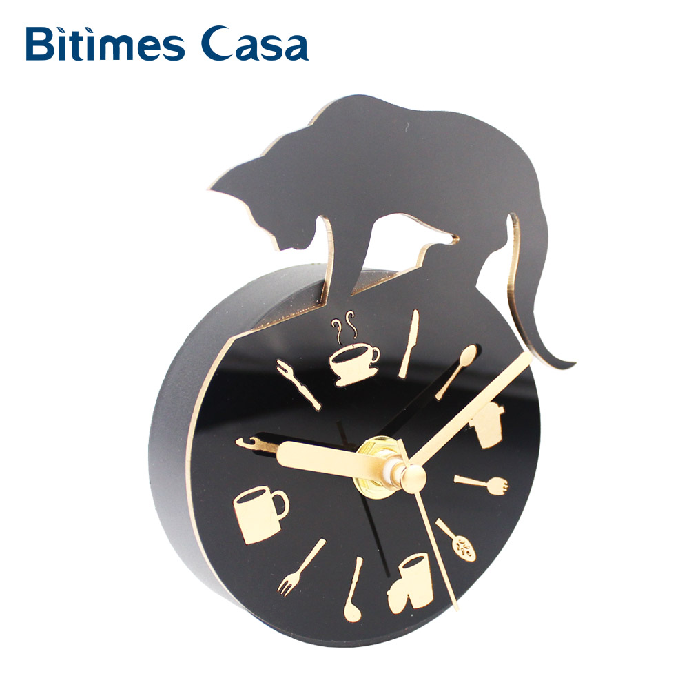 Buy Modern Clock Refrigerator Fridge Magnet Cat Design Kitchen Utensils Divider