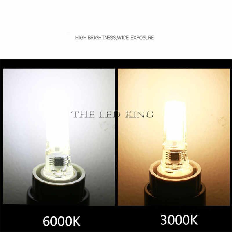 Lámpara LED Mini regulable 12V CC/CA 12W 9W 6W 220V LED g9 LEDs bombilla araña luz Super brillante G4 COB bombillas de silicona ampolla G9