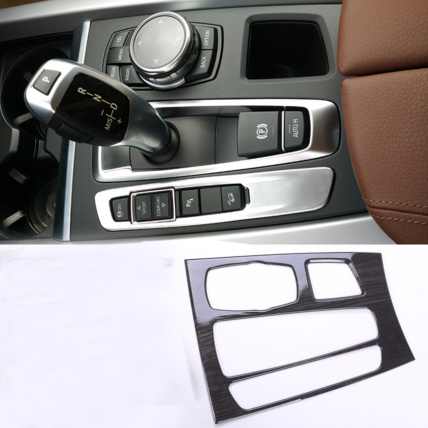 Stainless Steel Center Console Panel Trim For BMW X5/X6 2014-2017 Car Accessories stainless steel full window with center pillar decoration trim car accessories for hyundai ix35 2013 2014 2015 24