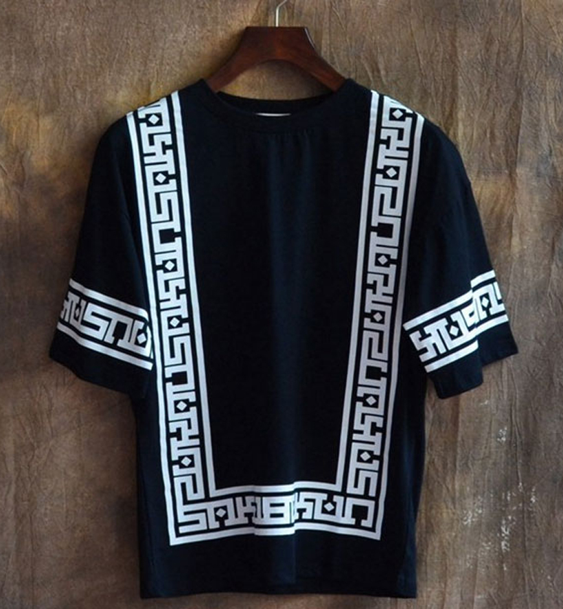 093825dd New KTZ Half Sleeve Baseball Hip Hop T shirt Religion Geometric Bandana  Shirt Vintage Rock Tee Shirts Loose Plus Size Streetwear-in T-Shirts from  Men's ...