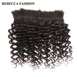 Ребекка бразильского remy глубокая волна массовых Человеческие волосы для плетения 1 Комплект Бесплатная Доставка от 10 до 30 дюймов
