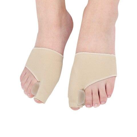 5 pares manga halux valgo corrector joanete separador de dedos de silicone osso grande meias