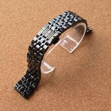 Accesorios del reloj moda 22 mm negro sólido pesado inoxidable acero correa de la correa Links pulseras para el LG reloj de i W110