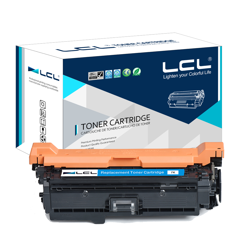 LCL CE251A 504A CE 251 A CE251 251A  (1-pack) Laser Toner Cartridge Compatible for HP Color laserJet CP3525/CM3530 lcl any1 508x cf360a cf361x cf362x cf363x cf360x 508a 1 pack compatible toner cartridge for hp laserjet m553dn m553n m552dn