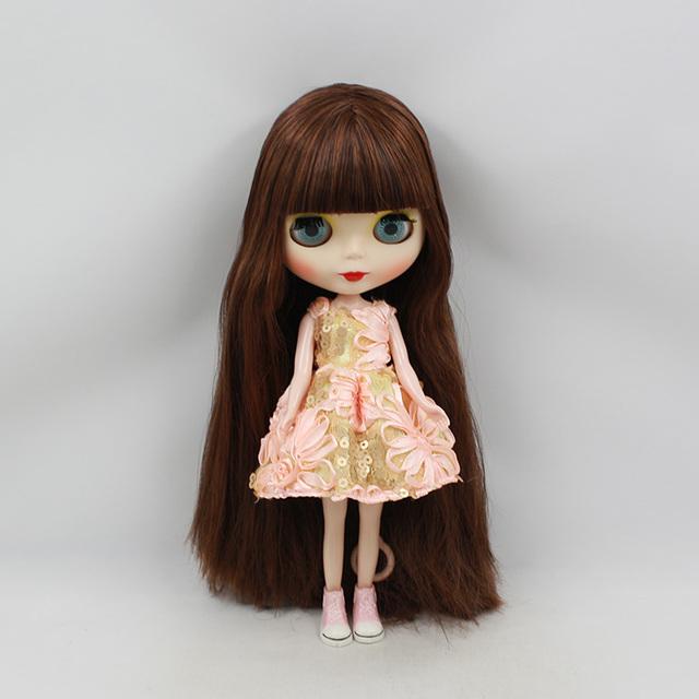 Factory Neo Blythe Doll Brown Hair Regular Body 30cm