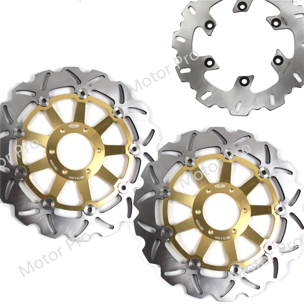 For Yamaha FZS FAZER 600 1998 - 2003 Front Rear Brake Disc Disk Rotor Kit Motorcycle FZS600 FAZER600 1999 2000 2001 2002 XJR 400 motorcycle rear brake disc rotor for y a m a h a xjr1300 5ea1 5ea7 1998 1999 fjr1300 n p r ar s as 2001 2010 02 03 04 05 06 07