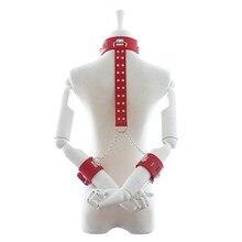 Секс Инструменты для продажи сексуальные наручники и воротник секс-игрушки БДСМ фетиш ограничивающая повязка жгут набор секс-игрушки для взрослых для обувь для мужчин и женщин.