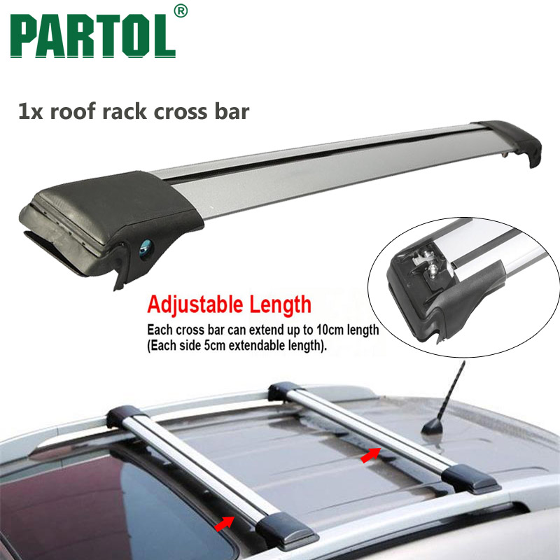 Partol 1x <font><b>Car</b></font> Roof Rack Cross Bar Top Box Luggage Boat Carrier Snowboard/bike rack Anti-theft Lock Universal For 93 99 105 111cm