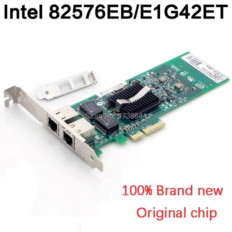 High Quanlity Compute Products 2 ports Intel 82576 Chip Gigabit Ethernet Server Adapter PCI-E Gigabit Ethernet E1G42ET RJ45 Port 3 5mm male to dual female mono audio split y cable purple black 25cm