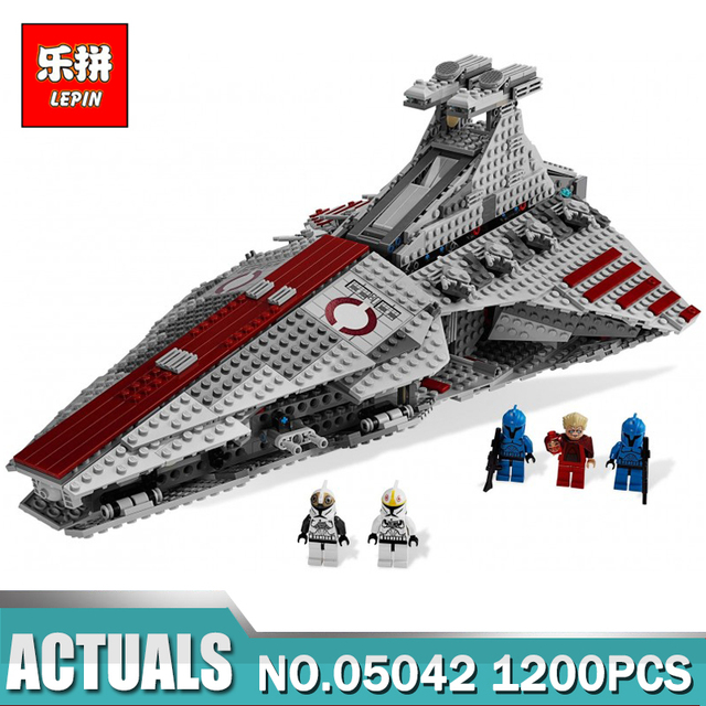 New Lepin 05042 Star Series Wars  The Republic Fighting Cruiser Set Building Blocks Toys for Children Compatible LegoINGlys 8039