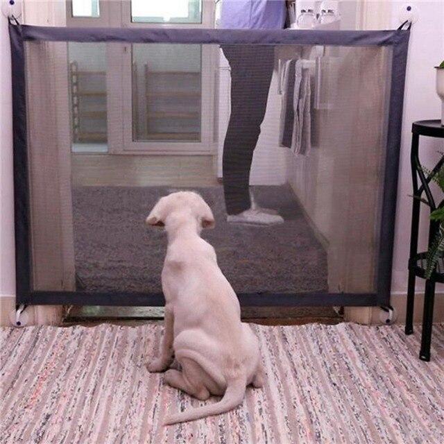 חיות מחמד כלב שער קסם רשת מחסום בטיחות הפרדת משמר גדר נייד מתקפל כלב גדרות עבור קטן גדול כלב Suppllies