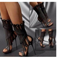 Sculpts Textures Fashion Quality High Heels women Sandals Genova Stiletto Sandal Booties Ankler Boots shoes woman size 3.5-14