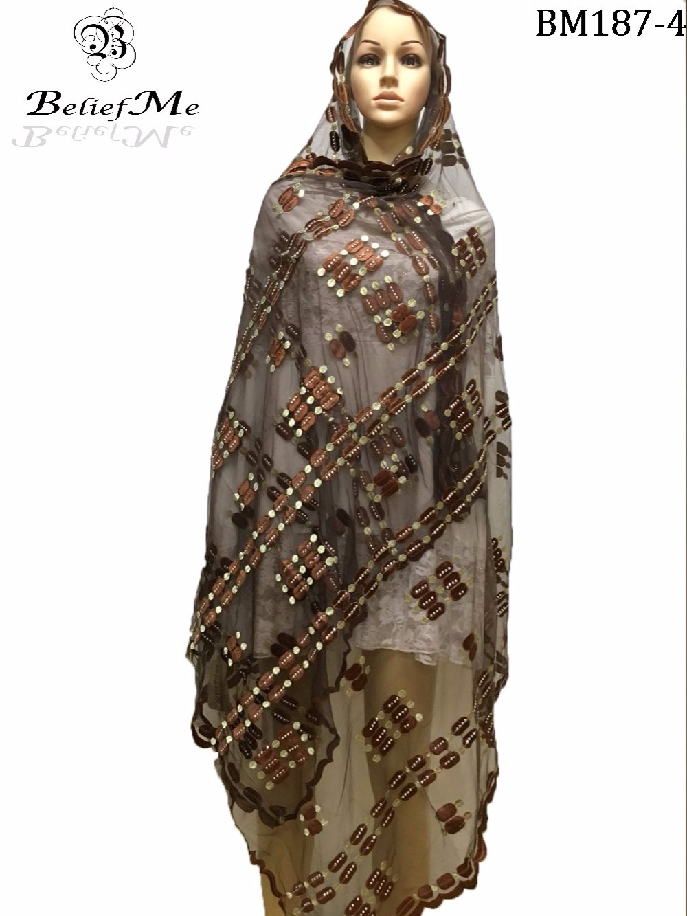 New Arrivals 2019 Fashion Muslim Embroidery Women Big   Scarf   African   scarf     wrap   shawls pashmina   scarf  , plain embroidery net   scarf