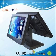 Electronic products high quality15 inch all in one touch /pos system /cash register POS PC with Dual screen monitor
