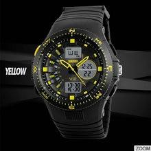 discount waterproof military wrist watch led backlight analog digital sports man Luxury Brand Double Time Quartz Wristwatch