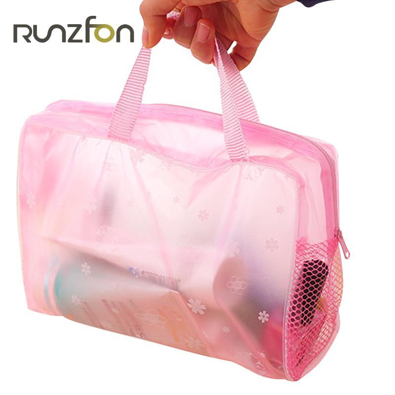 Waterproof Bathroom Bag Makeup Storage Handbag Cosmetic Organizer Travel PVC For Cosmetics Cosmetic Bag Wash Bathing Supplies
