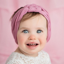 New Elastic Cross Knot Girl Turban Solid Color Headwraps Baby Girls Nylon Headbands Toddler Infant Hair Accessories