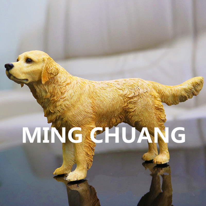 Cute Simulation Puppy Statue Hound Golden Retriever seeing eye dog Bust Resin Action Figure Collectible Model Toy 12CM Q144 [sa] new german original authentic spot sick safety relays ue10 30s2d0