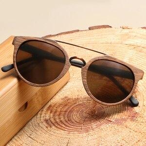 Image 3 - Vintage Acetaat Hout Zonnebril Voor Mannen/Vrouwen Hoge Kwaliteit Gepolariseerde Lens UV400 Klassieke zonnebril