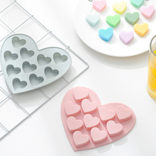 Silicone Chocolate Mold Heart Shapes Chocolate baking Tools Non-stick Silicone cake mold Jelly and Candy Mold 3D mold DIY best cheap Moulds Cake Tools Silicone Rubber CE EU Eco-Friendly Stocked CW101393