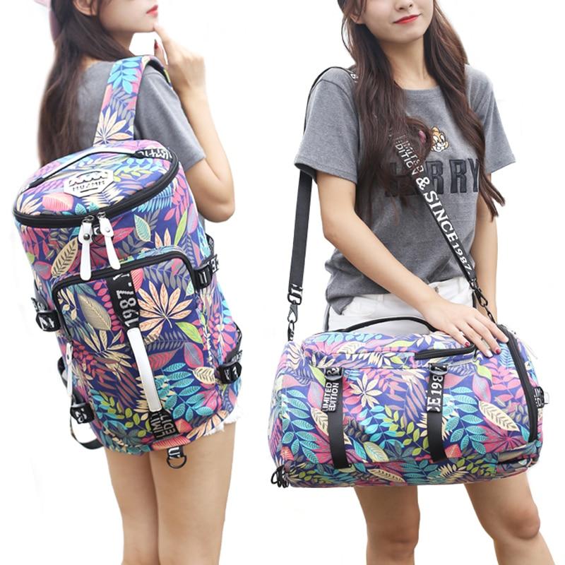 Outdoor Large Capacity Red Palm Trees Canvas Gym Bag Sport Men Women Big Sport Bag Fitness Bag Handbag Yoga Mat Bag Sac De Sport