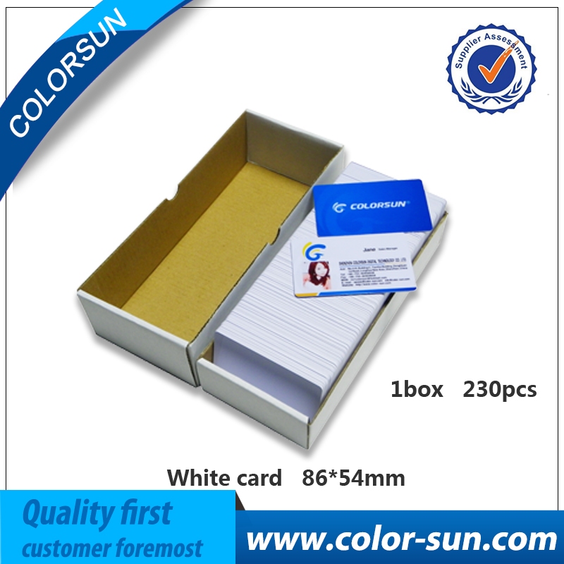 230PCS/Lot Printable Blank Inkjet PVC ID Cards For Canon for Epson Printer P50 A50 T50 T60 R390 L800 waterproof 20pcs lot double direct printable pvc smart rfid ic blank white card with s50 chip for epson canon inkjet printer