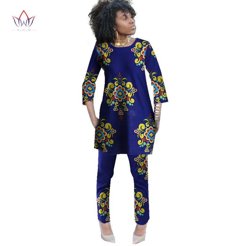 d8ae0b1387acf 2019 Spring Two Piece Set Wax Top and Pants Women Suits Two Piece Set  African Women Clothing Plus Size 6xl Brand Custom WY484