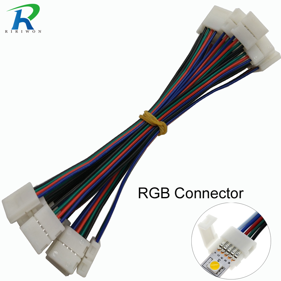 RGB LED Strip Connector 4pin 10mm Free Welding Connector 10pcs/lot Connector 4 Conductor 10 Mm Wide Strip To Strip Jumper