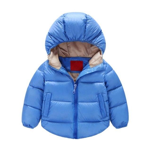 J58 Унисекс Девочки Мальчики С Капюшоном Зимнее Пальто Детские Куртки И Пиджаки Дети Снег Носить Теплую Одежду
