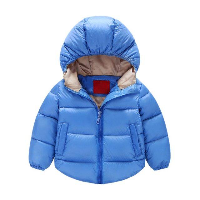 J58 Unisex Del Bebé Niñas niños Abrigo de Invierno Con Capucha Bebé Outwear Cabritos de la Chaqueta de Desgaste de la Nieve Ropa de Abrigo