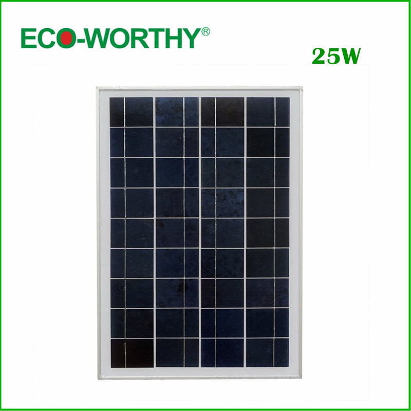 Eu Stock 1piece 20 W 18V Poly Solar Panel For Charging 12V Battery Free Shipping
