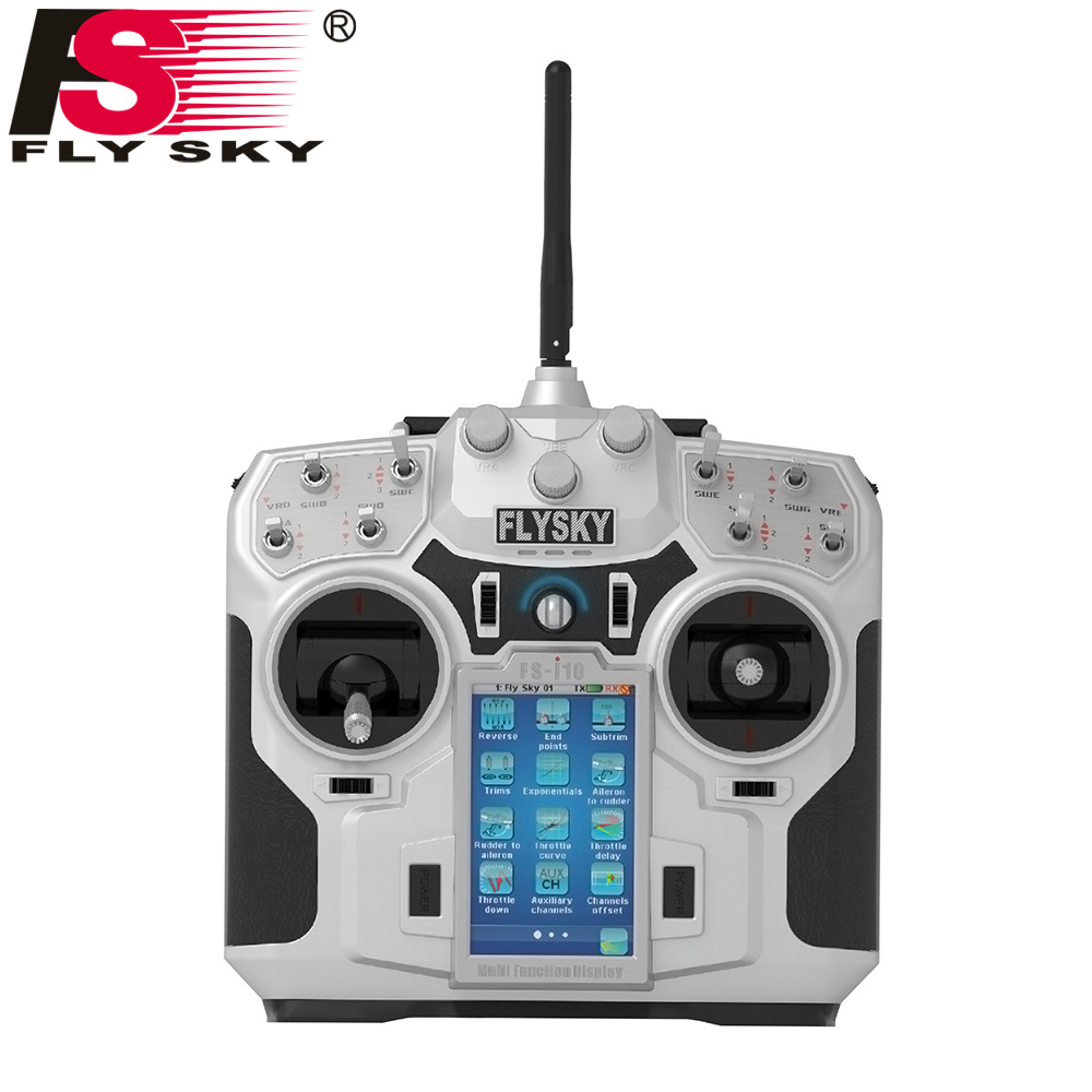 FLY CIEL FS-i10 2.4g 10CH AFHDS 2A Automatique Saut de Fréquence Émetteur + FlySky FS-iA10B 2.4g 10CH Récepteur pour RC Quadcopter