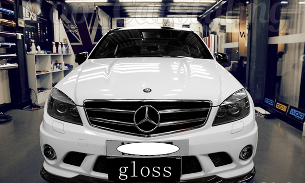 1.52x5m/roll Bright Glossy White Vinyl Film Car Decal Wrap Sticker White Gloss Film Wrap Retail for HOOD Roof Motorcycle