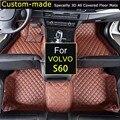 Para VOLVO S60 Tapetes Do Carro Personalizado Pé Tapetes Personalizados Tapetes Auto Estilo Do Carro Custom-Fit para Volvo S60L 2014