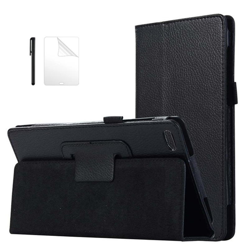 Litchi style PU Leather Case For <font><b>Lenovo</b></font> Tab 7 tab7 <font><b>TB</b></font>-<font><b>7504x</b></font> <font><b>tb</b></font>-7504f 7.0 inch Funda Case For <font><b>Lenovo</b></font> tab 4 7 Tablet case+film+pen image