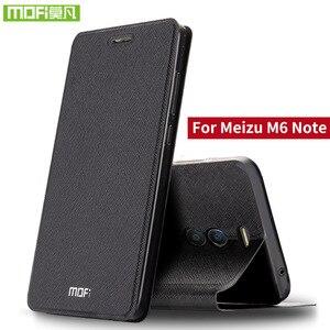 Image 1 - Para o caso Nota Para Meizu Meizu M6 M6 tampa da caixa Nota silicone bolsa em couro flip mofi rígido de metal plástico 360 Para MeiZu M6 caso Nota 3D