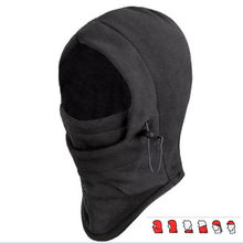 Winter Breathable Warm Thermal Windproof Balaclava Paintball Game Combat Sun Neck Full Face Mask Cap Helmets Hat Wig Beard Hats(China)