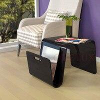 ONELUX 2017 New Designed Acrylic coffee tea table,Lucite magazine sofa beside tables