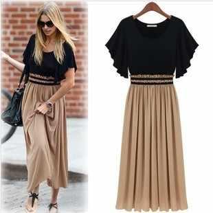 Women summer dress 2019 Europe new women's summer dress code fat waist thin Chiffon Dresses women's clothing WJ187 vestidos