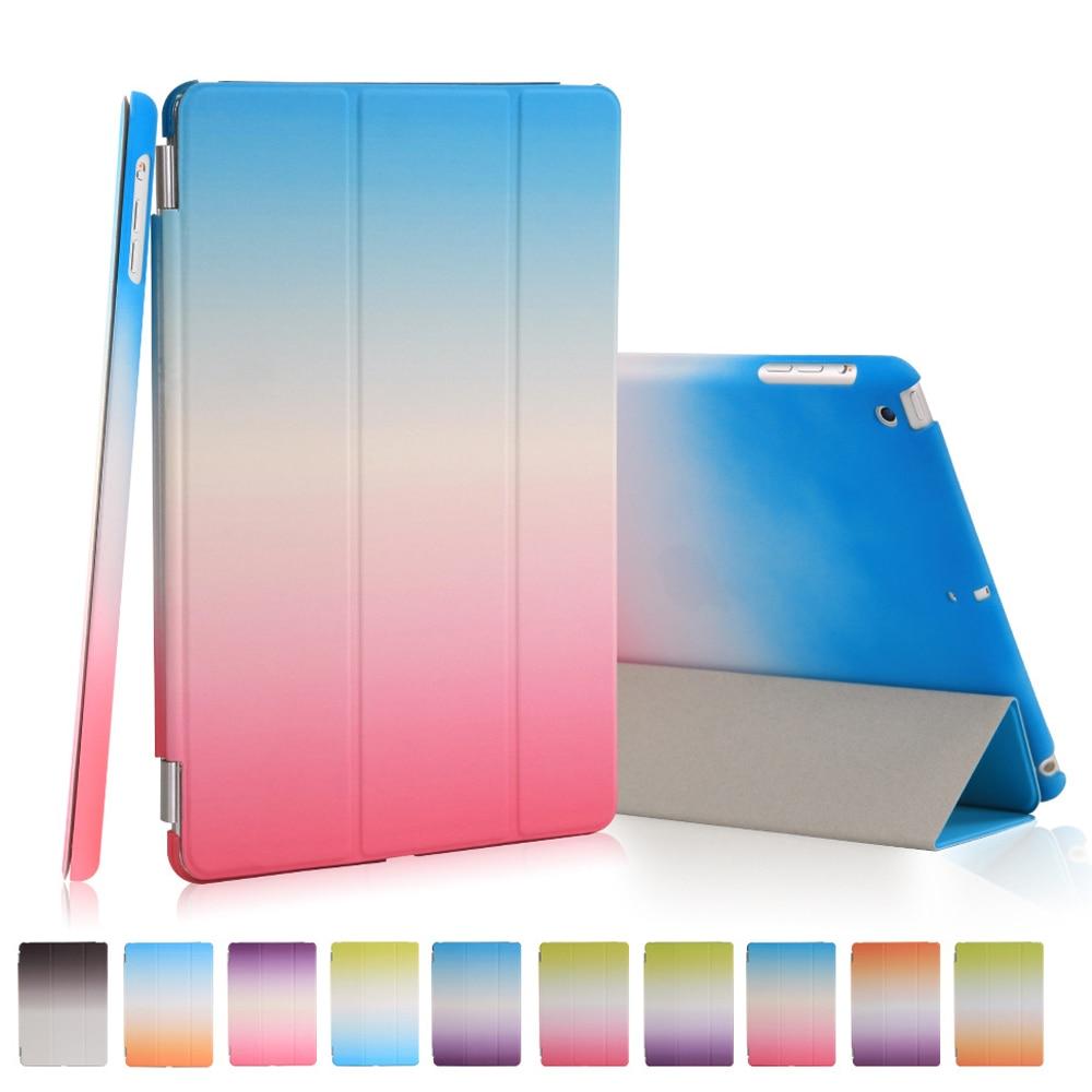 Радуга ультра тонкий чехол для Apple Ipad Mini 1 2 3 Baby Safe Авто Режим сна/проснуться Smart Cover чехол с магнитной подставкой + стилус