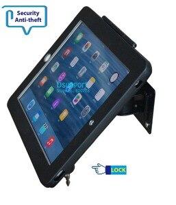 Image 5 - Fit voor ipad 2/3/4/5/air/pro wall mount metalen case voor ipad stand display beugel tablet pc lock houder ondersteuning Stel de hoek