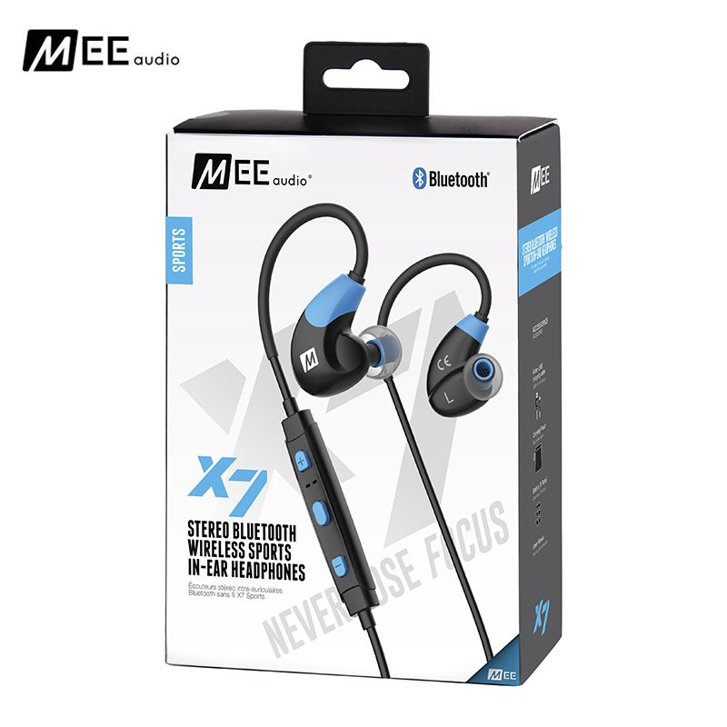 Big promotion!MEE Audio X7 Wireless Noise Isolating Waterproof In Ear Stereo Headset Bluetooth Running Handfree Sports Earphone 100% original mee audio m6 pro universal fit noise isolating earphones professional musician s in ear monitors headset with box