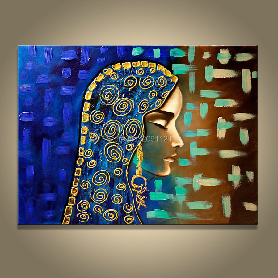 Hand Painted Canvas Oil Painting Isramic Women Egyptian
