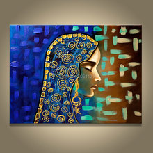 hand painted canvas oil painting isramic women egyptian girl art traditional middle East figure picture wall no frame