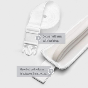 Image 5 - Bed Bridge Twin To King Converter Kit Bed Filler To Make Twin Beds Into King Connector Twin Bed Connector & Mattress Connector