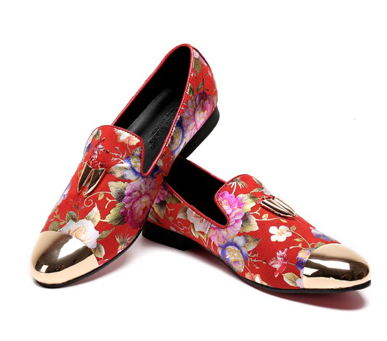 Luxus Heißer Verkauf Mode Party Hochzeit rot Handgemachte Männer Neue Leder Size46 Faulenzer Blau Schuhe Rot Wohnungen Haopuvsen rrdwP7qf
