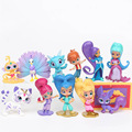 12pcs/set New princess Shimmer action figures Fashion Shine sister figures doll toy set gifts for girls