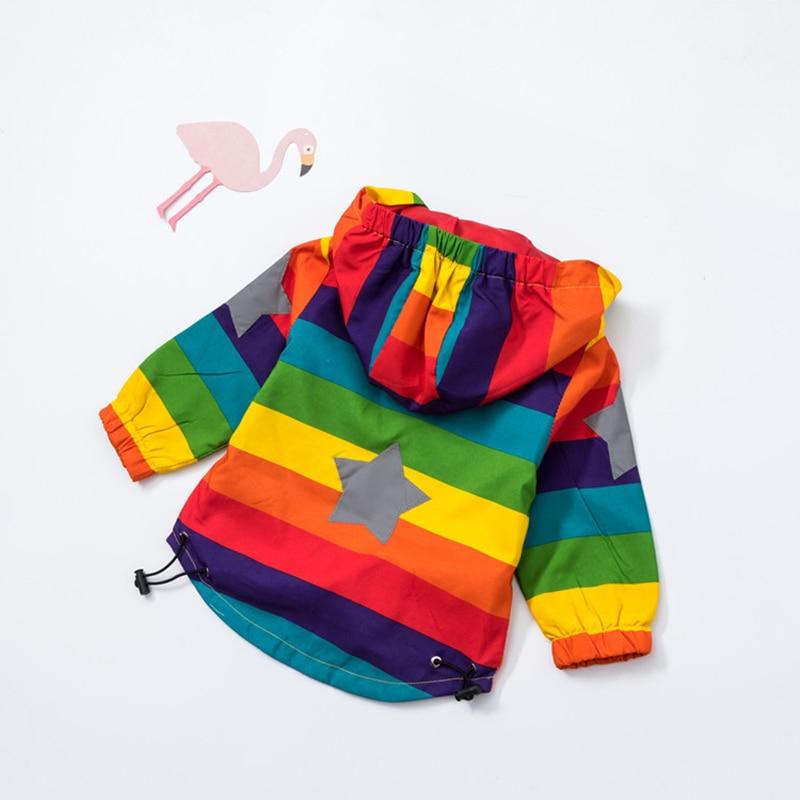Baby Girl Jacket Boy Hooded Coat Solskyddsmedel Kläder Rainbow - Barnkläder - Foto 2